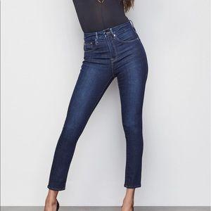 Good American Good Legs Crop Dark Skinny Jeans 25
